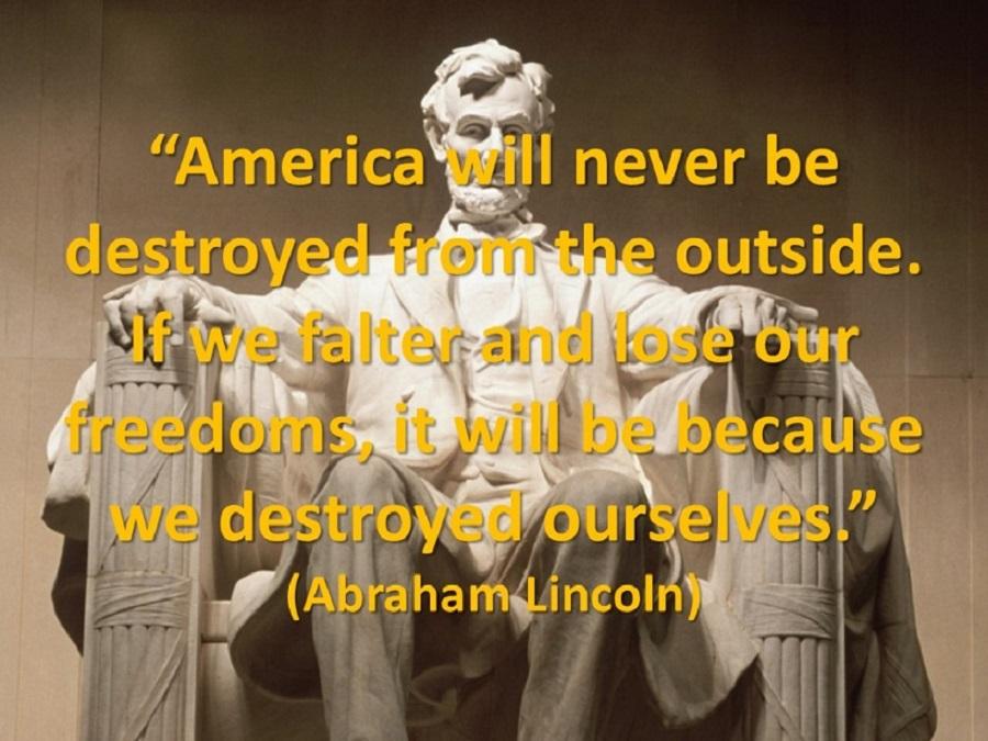 """בחירות 2016 בארה""""ב והחזון של אברהם לינקולן"""
