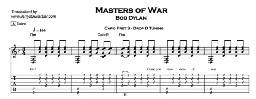 בוב דילן - אדוני המלחמה